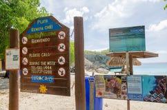 Praia grande de Knip em Curaçau nas Antilhas holandesas Foto de Stock Royalty Free