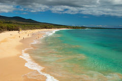 Praia grande no console de Maui Havaí Imagem de Stock Royalty Free