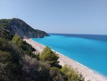 Praia Grecia de Mylos imagens de stock