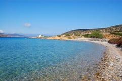 Praia grega, console dos amorgos foto de stock