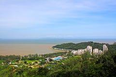 Praia Hac Sa, Macau, China imagem de stock