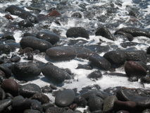 Praia Havaí da lava   Foto de Stock Royalty Free