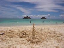 Praia Havaí de Lanikai Imagens de Stock Royalty Free