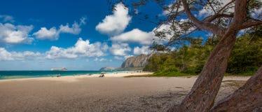 Praia Havaí de Waimanalo Imagens de Stock Royalty Free