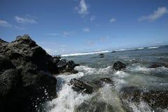 Praia havaiana fotografia de stock