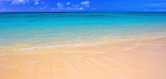 Praia havaiana - Oahu Imagens de Stock Royalty Free