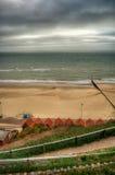 Praia HDR de Bornemouth Fotos de Stock