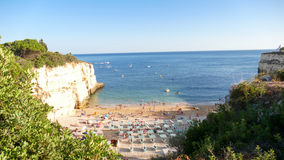 Praia hermoso DA Senhora DA Rocha de la playa en Portugal, Algarve - imagen del panorama Imágenes de archivo libres de regalías