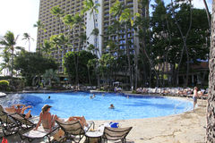 Praia Honolulu de Havaí Waikiki Fotografia de Stock