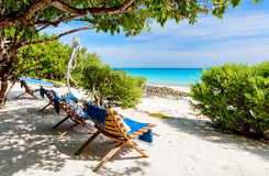 Praia idílico em África Imagem de Stock Royalty Free