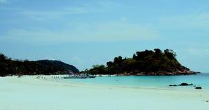 Praia idílico Malaysia foto de stock