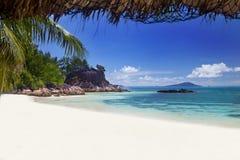 Praia ideal - ilha de Curieuse imagens de stock
