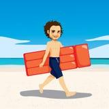 Praia inflável do homem ilustração royalty free