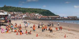 Praia inglesa no verão Fotos de Stock