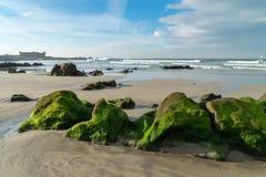 Praia Internacional near Queijo Castle, Porto, Portugal Royalty Free Stock Image