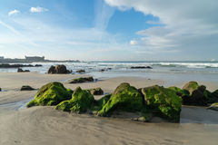 Praia Internacional near Queijo Castle, Porto, Portugal Stock Images