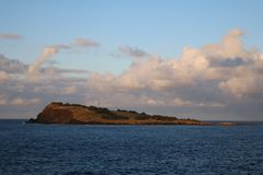 Praia islet. View to Praia islet on  Graciosa island, Azores, Portugal. Natural Reserve royalty free stock photography