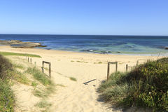Praia isolado calma Imagem de Stock