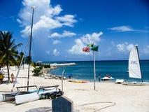 Praia jamaica dianteiro Imagens de Stock