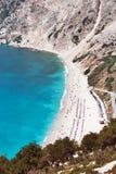 Praia Kefalonia de Myrtos Foto de Stock Royalty Free