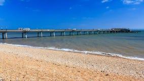 Praia Kent England do negócio imagens de stock royalty free