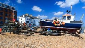 Praia Kent England do negócio fotos de stock