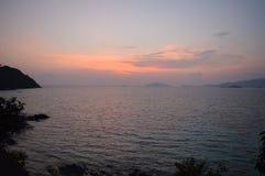 Praia Koh Lipe Thailand do por do sol Foto de Stock