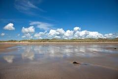 Praia larga Fotografia de Stock