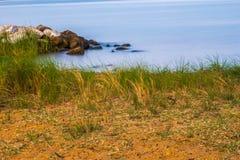 Praia & linha costeira Foto de Stock Royalty Free