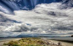 Praia litoral, Canadá Imagem de Stock