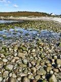Praia litoral de HDR - St Agnes Imagem de Stock