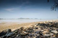 Praia local do cabo em Tailândia Imagens de Stock Royalty Free