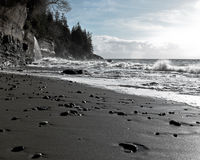 Praia místico, ilha de Vancôver, BC, Canadá Imagens de Stock Royalty Free