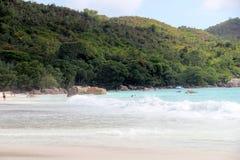 A praia a mais bonita da ilha de Paslin Imagens de Stock Royalty Free