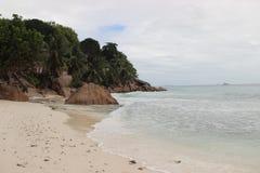 A praia a mais bonita da ilha de Paslin Fotografia de Stock