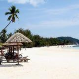 Praia malaia imagem de stock royalty free