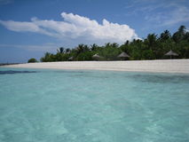Praia maldiva Imagem de Stock Royalty Free