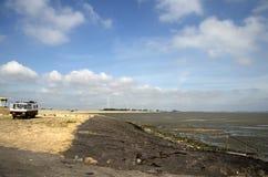 Praia maré em Krabbendijke fotografia de stock
