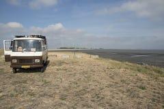 Praia maré em Krabbendijke foto de stock