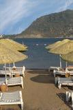 Praia Marmaris de Icmeler, Turquia fotos de stock