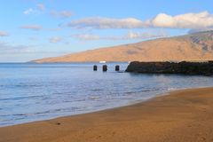 Praia Maui Havaí de Kihei Foto de Stock Royalty Free