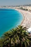 Praia mediterrânea Imagens de Stock Royalty Free