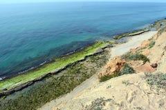 Praia mediterrânea em Israel fotos de stock