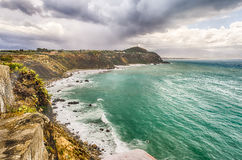Praia mediterrânea em Milazzo, Sicília Imagens de Stock