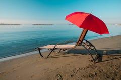 Praia tranquilo da manhã Imagens de Stock