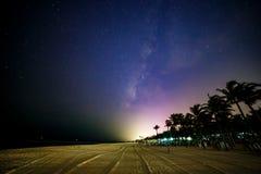 Praia mexicana na noite Imagem de Stock