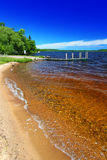 Praia Michigan de Gogebic do lago Foto de Stock Royalty Free