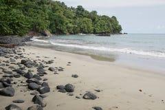 Praia Micondo, Sao-Tomé-et-Principe photos stock