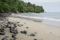 Praia Micondo, Sao Tome and Principe fotos de stock