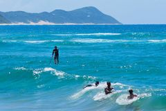Praia Moçambique África do Oceano Índico foto de stock royalty free